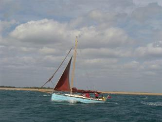 Crabber Rally 2015 - Inyanga making passage to Poole