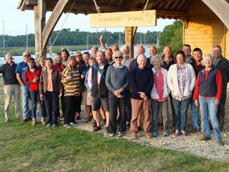 Crabber Rally 2015 - The crews outside the new Shipwright School at Bucklers Hard