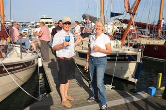Crabber Rally 2015 - relaxing after the Yarmouth passage to Poole