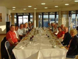 Crabber Rally 2015 -final dinner at the RNLI College in Poole 1