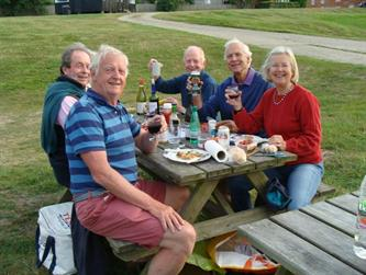 Crabber Rally 2015 BBQing at Bucklers Hard 1