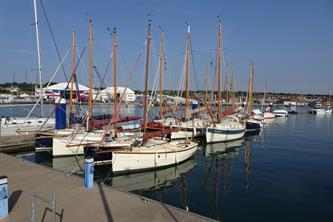The Fleet Moored at Sheppards Marina, Cowes